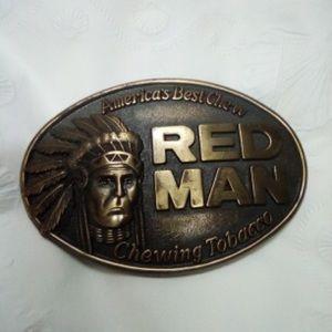 Vintage America's Best Chew Red Man Belt Buckle